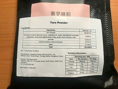 Taro Milk Tea Powder Instant Bubble Milk Tea 1000g Dessert Drink (AUSSIE STOCK)