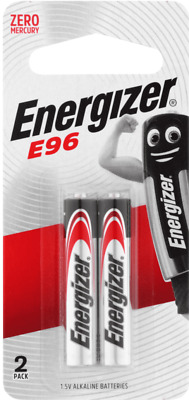 Energizer E96/AAAA Alkaline Batteries 2 Pack  New & Sealed