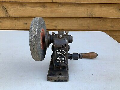 Antique Henry Boker Bench Stone Grinder; Collectable; Grinding Wheel; Germany