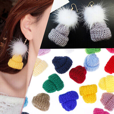 30Pcs Color Cute Knitting Mini Hats DIY Craft Supplie Headwear Toy Doll Deco-PN