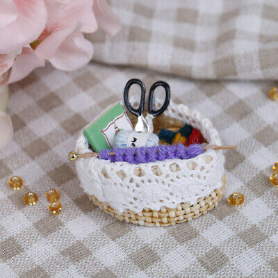 1:12 Dollhouse miniature wool knitting tool dollhouse accessories gif-PN
