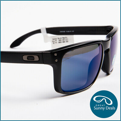 NEW Oakley HOLBROOK Matt Blk/Ice Iridium Polarised Sunglasses (9102-52) RRP$239