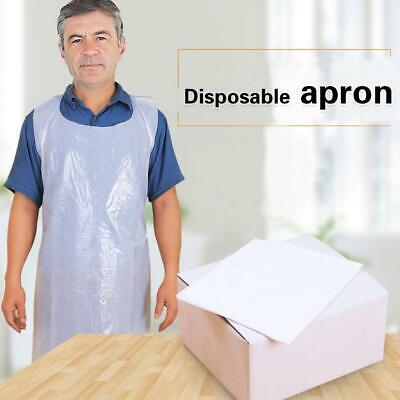 White Flat Pack & Roll of Disposable Plastic Aprons High Density Polythene