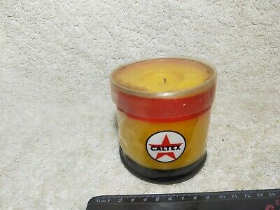 Vintage Motoring Petrol Oil Advertising Caltex Wax Candle Rare Collectible