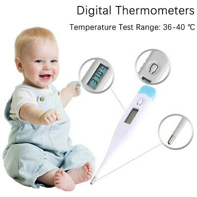 Digital LCD Medical Thermometer Heating Body Fever Temperature Baby Adult