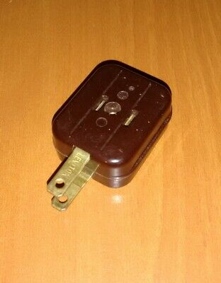 Vintage Leviton 15A-125V  Brown Outlet Adapter Plug 2-Prong Super Fast Shipping