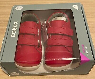 BNIB Bobux Waterproof Grass Court Toddler Shoes - Size 20 - Red - RRP$80!