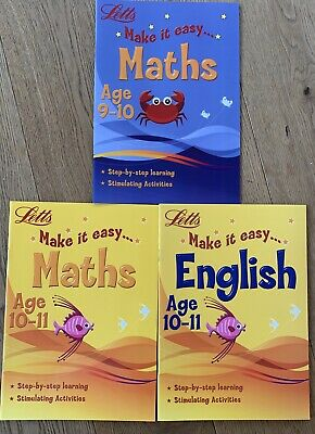 Maths and English Home Learning Books,Fun Learning, Age 9-11 yr KS2, SAT prep