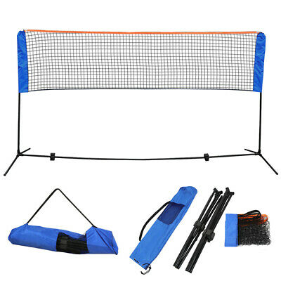 10 Feet Portable Badminton Volleyball Tennis Net Sets w/ Stand Frame Carry Bag