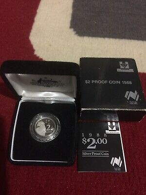 $2 Proof Coin 1988 With Box And Paper