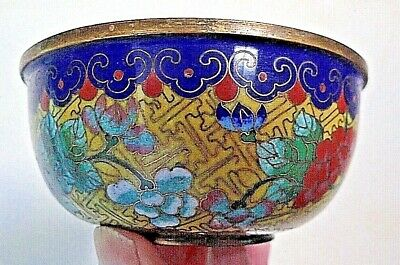 Antique CHINESE Cloisonne Enamel BOWL 19 C