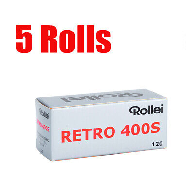 5 Rolls Rollei Retro400s 120 Middle Format  Black&White Film Fresh 2021