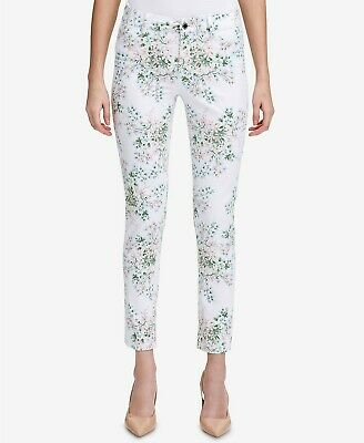 Calvin Klein Floral-Print Ankle Pants MSRP $79.50 Size 16 # 19A 33 NEW