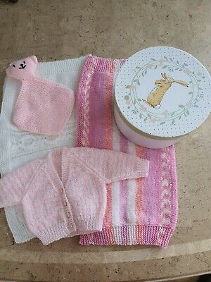 Brand New Hand Knitted New Baby Girl Bundle