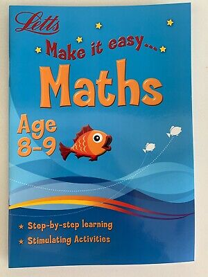 Age 8-9 Letts Make It Easy Math Workbook, KS2.Home Learning.Stimulating Activity