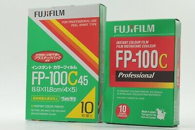 【New 2 Sets】Fujifilm FP-100C 45 4 x 5 + FP-100C Instant Color Film Set fr Japan