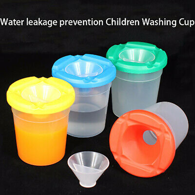 Water leakage prevention DIY Children Washing Cup writing brush Cup Paint _AU