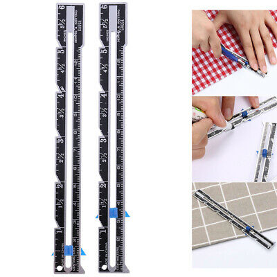 Sewing Seam Ruler Measuring Gauge Patchwork Quilting Tailor Sizer Helper To_AU
