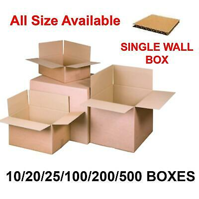 10/20/25/100/200/500 Large Single Wall Cardboard Box Packing Shipping All Size