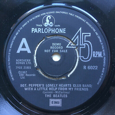 "Beatles ""Sgt Pepper / A Day In The Life"" 1978 Parlophone ""A"" Label Demo Nr Mint"