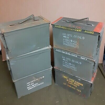 (6 PACK) SCRATCH AND DENT 50 Cal M2A1 AMMO CAN * FREE SHIPPING *