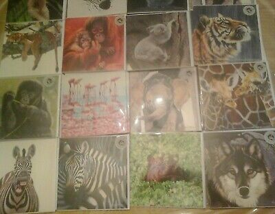 38 Wild Animals Cards, Wholesale Joblot Greeting Cards