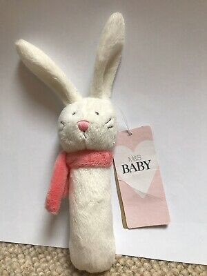 Marks And Spencers Baby Bunny Rattle - BNWT