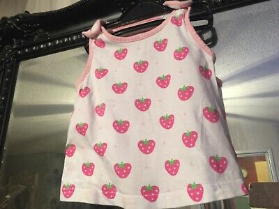 Baby Girls Mothercare White/Pink Top Age 9-12 Months