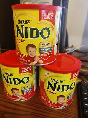 3 CAN's OF 12.6 OZ NESTLE NIDO KINDER 1+ Powder Whole Milk Shelf Stable Powdered
