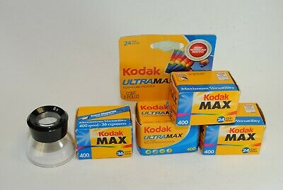 4 Rolls of Expired Kodak Max 400 Color Print 35mm Film
