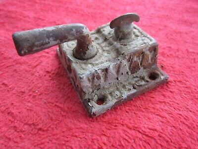 Antique Vintage Ornate Cast Iron Door Latch With Lock