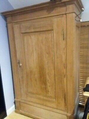 Antique knockdown pine wardrobe