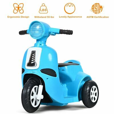 Modern & Sturdy 6V Electric Children's Ride on Motorcycle 3 Wheel Scooter