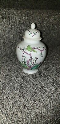 Antique vintage Chinese Ginger Jar Beautiful interesting Unusual Hand Painted