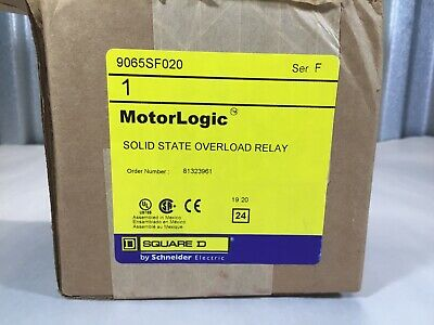Square D Motor Logic 9065-Sf020 Solid State Overload Relay 6A-18A, 600Vac