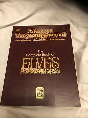 Complete Book of Elves Advanced Dungeons and Dragons 2nd Edition TSR