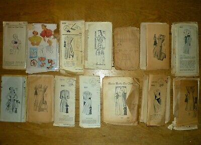RARE VINTAGE BUNDLE/LOT 1920s 1930s 1940s SEWING PATTERNS MARIAN MARTIN McCALL