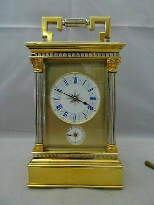 Rare French Carriage Clock Musical box hour Repeater L. Gallopin