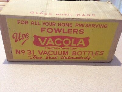 One Dozen Fowlers Vacola Number 31 Preserving Bottles/Jars with Lids and Clips