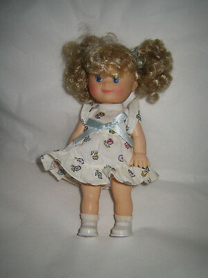 1993 CITITOY Doll - Blonde Hair Blue Eyes - Rubber - Jointed - 7 1/2""
