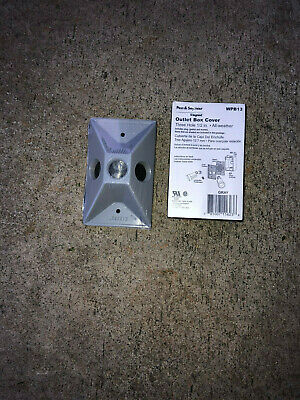 """Lot of 12 Legrand 3 hole weather proof outlet box cover WPB13 size 1/2"""""""