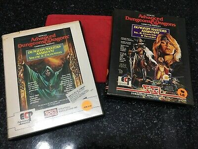 Adv Dungeons & Dragons Rare Vintage Computer Product Floppy Discs x2 1989 EXC
