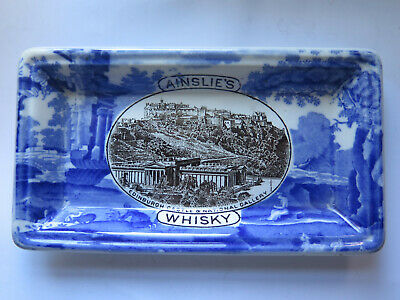 AINSLIE'S WHISKY CHANGE TRAY by WT COPELAND LATE SPODE ENGLAND c1950 & SCARCE