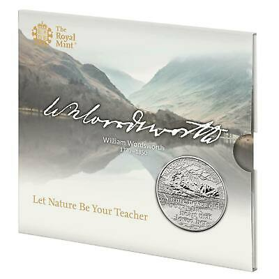 2020 William Wordsworth 250th Anniversary £5 Coin in Royal Mint  Pack  FREE P&P