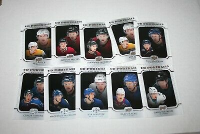 2019-20 Upper Deck series 2 UD Portraits Rookies lot of (10) Kakko, Mikheyev