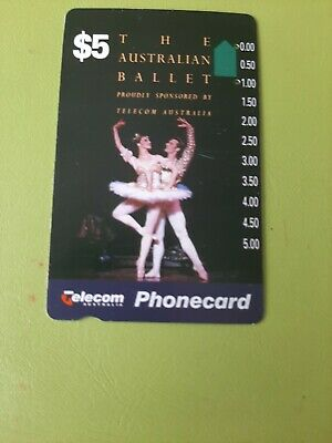 $5  2Hole Phonecard  The AUSTRALIAN Ballet  Prefix 464