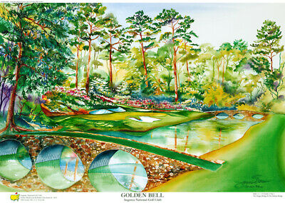 Augusta National Masters Limited Edition Golf Art Print Signed by Artist
