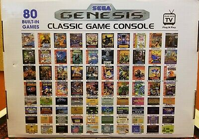 AtGames Sega Genesis Classic Home Game Console 80 Games Included (Integrated)