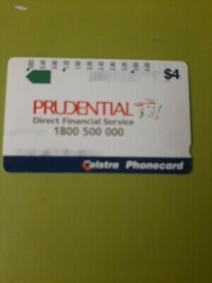 $4 3Hole Phonecard  Prudential  Prefix  1286