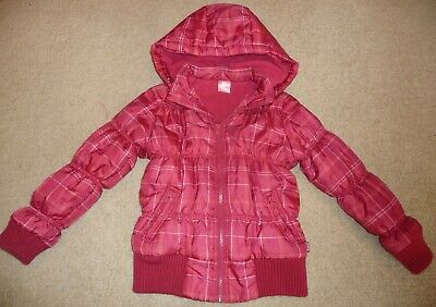 Girls Pumpkin Patch Size 6 Dark Pink Winter Jacket / Coat With Hood